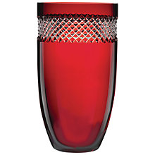 Buy Waterford John Rocha Vase, Red, H30cm Online at johnlewis.com