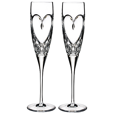 Waterford True Love Flute, Set of 2