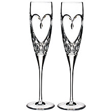Buy Waterford True Love Flute, Set of 2 Online at johnlewis.com
