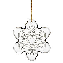 Buy Waterford Annual Snowflake Christmas Decoration Online at johnlewis.com