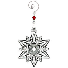 Buy Waterford Annual Snow Crystal Pierced Christmas Decoration Online at johnlewis.com