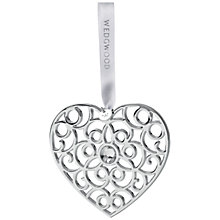 Buy Wedgwood Filigree Heart Christmas Decoration Online at johnlewis.com