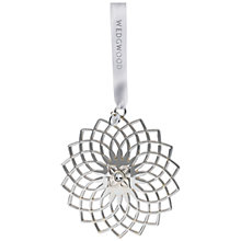 Buy Wedgwood Filigree Snowflake Christmas Decoration Online at johnlewis.com