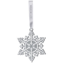 Buy Wedgwood Neo Classical Snowflake Christmas Decoration Online at johnlewis.com