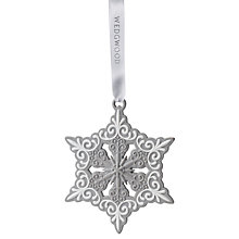 Buy Wedgwood Pierced Snowflake Christmas Decoration Online at johnlewis.com