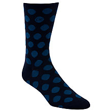 Buy Calvin Klein Polka Dot Socks, One Size, Navy/Blue Online at johnlewis.com