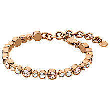 Buy Dyrberg/Kern Teresia Swarovski Crystal Bracelet, Rose Gold Online at johnlewis.com