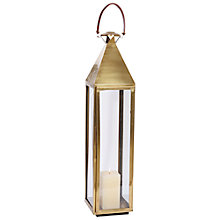 Buy Pacific Lifestyle Anique Brass Square Lantern, Large Online at johnlewis.com