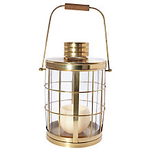 Buy Pacific Lifestyle Antique Brass Round Lantern Online at johnlewis.com