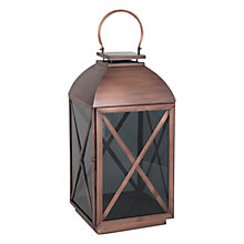 Buy Pacific Lifestyle Copper & Smoked Glass Lantern, Large Online at johnlewis.com