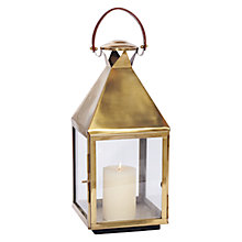Buy Pacific Lifestyle Handcrafted Square Lantern, Antique Brass, Small Online at johnlewis.com