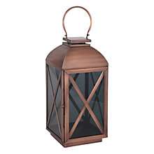 Buy Pacific Lifestyle Copper & Smoked Glass Lantern, Small Online at johnlewis.com