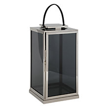 Buy Pacific Lifestyle Polished Nickel Square Lantern, Small Online at johnlewis.com