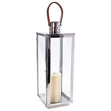 Buy Pacific Lifestyle Polished Square Steel Lantern, Large Online at johnlewis.com