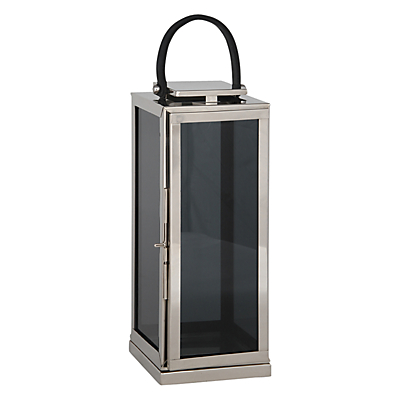 Pacific Lifestyle Polished Nickel Square Lantern, Large