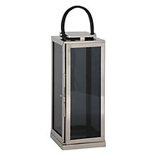 Buy Pacific Lifestyle Polished Nickel Square Lantern, Large Online at johnlewis.com