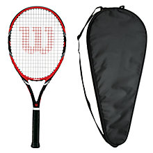 Buy Wilson Federer Team 105 Adult Tennis Racket with Free Racket Cover Online at johnlewis.com