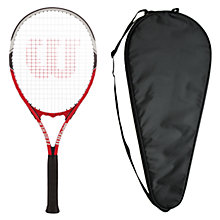 Buy Wilson Federer Adult Tennis Racket with Free Racket Cover Online at johnlewis.com