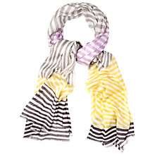 Buy White Stuff Patched Stripe Scarf, Multi Online at johnlewis.com