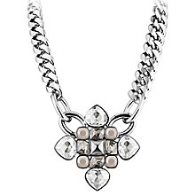 Buy Dyrberg/Kern Kebra Swarovski Crystal Necklace, Silver Online at johnlewis.com
