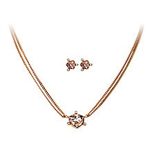 Buy Dyrberg/Kern Estelia Pavilia Necklace and Earrings Set, Rose Gold Online at johnlewis.com