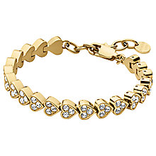 Buy Dyrberg/Kern Muamor Heart Swarovski Crystal Bracelet, Gold Online at johnlewis.com