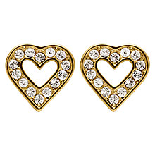 Buy Dyrberg/Kern Acora Heart Stud Earrings Online at johnlewis.com