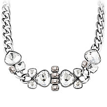 Buy Dyrberg/Kern Makeda Shiny Stainless Steel Necklace, Silver Online at johnlewis.com