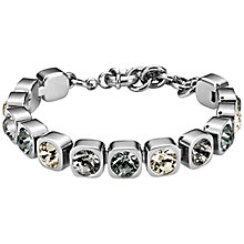 Buy Dyrberg/Kern Conian Swarovski Crystal Silver Toned Bracelet, Silver/Grey Online at johnlewis.com