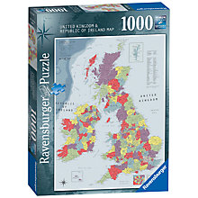 Buy Ravensburger Britain and Ireland Map Jigsaw Puzzle, 1000 Pieces Online at johnlewis.com