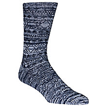 Buy Calvin Klein Winter Texture Socks, Light Blue Online at johnlewis.com
