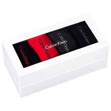 Buy Calvin Klein Cotton Mix Sock Gift Box, Pack of 4, Black/Red/Grey Online at johnlewis.com