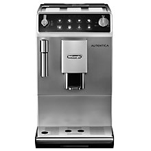 Buy De'Longhi Autentica Bean to Cup Coffee Machine, Silver Online at johnlewis.com