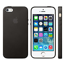 Buy Apple Leather Case for iPhone 5 & 5s, Black Online at johnlewis.com