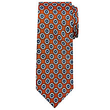 Buy Peckham Rye Made In England Floral Medallion Silk Tie Online at johnlewis.com