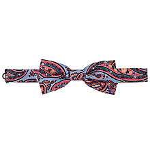 Buy Peckham Rye Made In England Large Paisley Silk Bow Tie Online at johnlewis.com