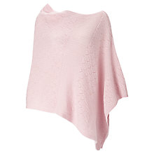 Buy Jigsaw Knit Panel Poncho, Dusky Pink Online at johnlewis.com