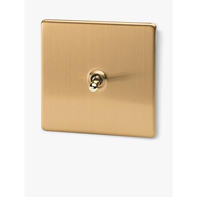 Image of Varilight 1 Gang 2 Way Toggle Switch, Brushed Brass