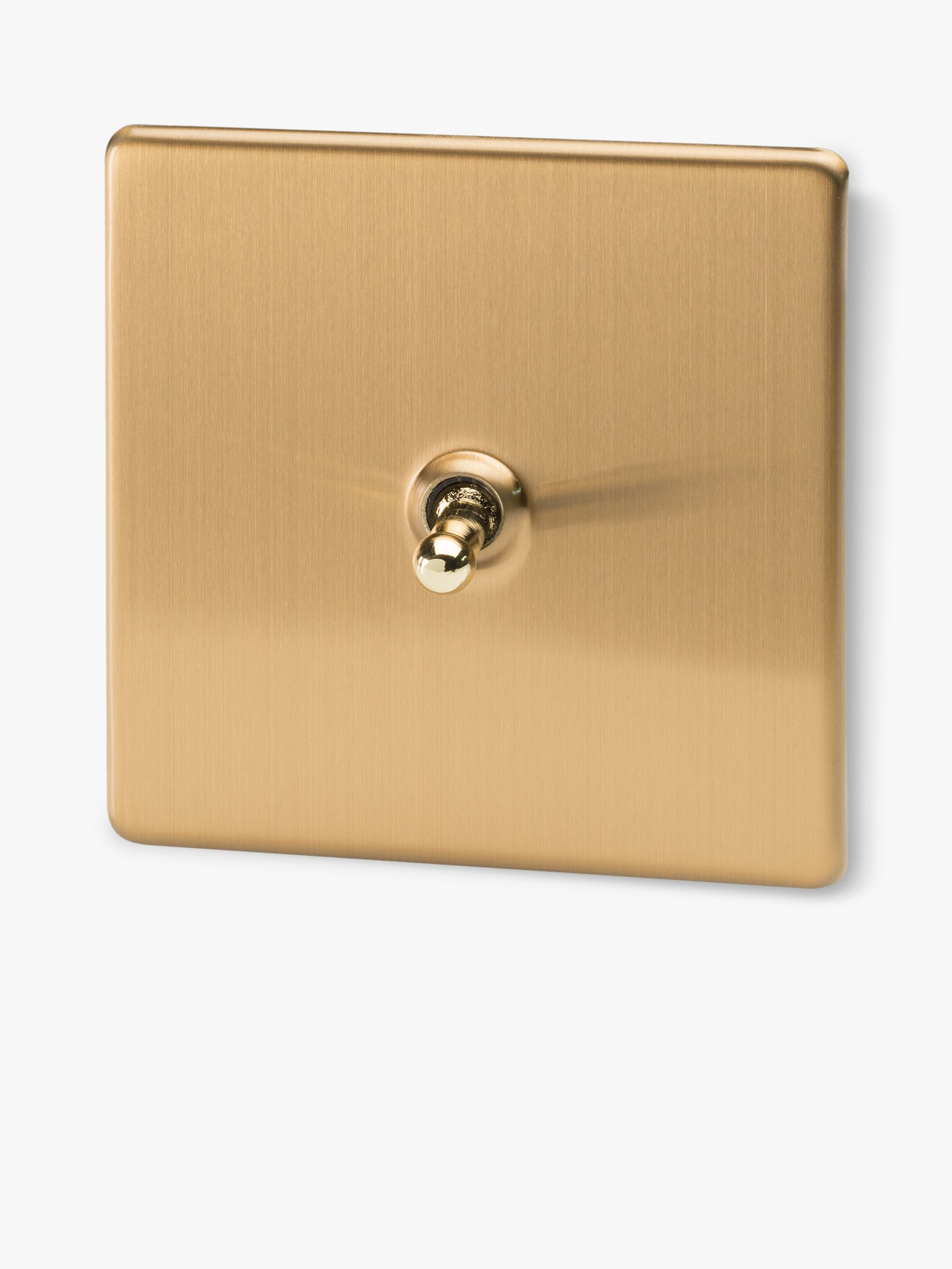 Varilight Varilight 1 Gang 2 Way Toggle Switch, Brushed Brass