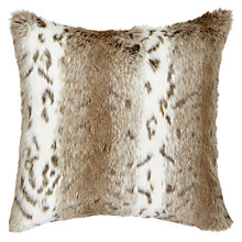 Buy Helene Berman Spot Faux Fur Cushion, Cream / Tan Online at johnlewis.com
