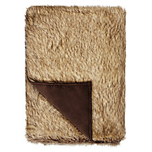 Buy Helene Berman Faux Fur Rowland Wolf Throw, Brown Online at johnlewis.com