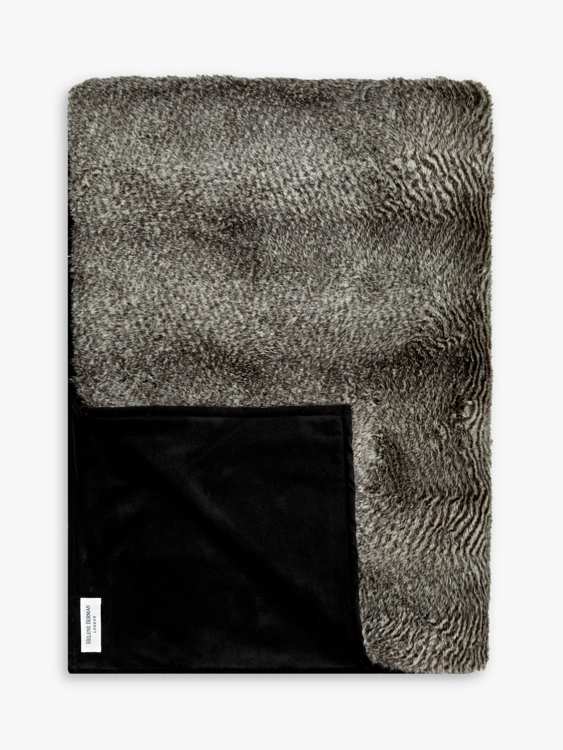 Helene Berman Helene Berman Faux Fur Chevron Rabbit Throw