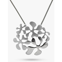 Buy Nina B Sterling Silver Flower Pendant, Silver Online at johnlewis.com