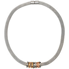 Buy Adele Marie Rhodium Plated Mesh Charm Necklace, Silver Online at johnlewis.com