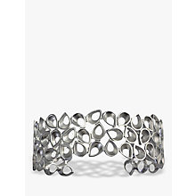 Buy Nina B Teardrop Silver Open Cuff Bangle, Silver Online at johnlewis.com