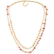 Buy Adele Marie Semi Precious Gold Toned Necklace Online at johnlewis.com