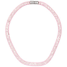 Buy Adele Marie Crystal Mesh Necklace, Pink Online at johnlewis.com