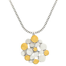 Buy Nina B Sterling Silver Small Pendant Necklace, Silver Online at johnlewis.com