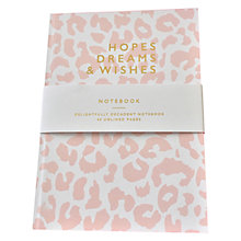 Buy Abigail Warner Hope, Dreams & Wishes A5 Notebook, Pink Online at johnlewis.com
