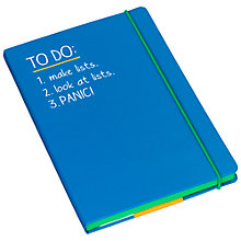 Buy Happy Jackson To Do Notebook, A5, Blue Online at johnlewis.com